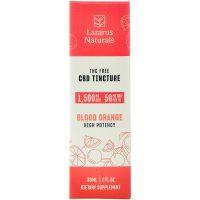Lazarus Naturals High Potency CBD Isolate Tincture Blood Orange 1500mg 30ml
