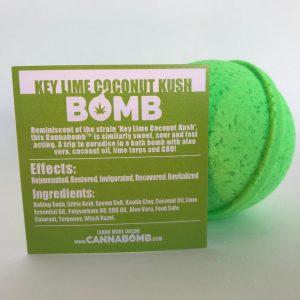 CannaBomb Key Lime Coconut Kush CBD Bath Bomb 100mg