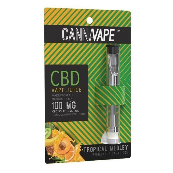 Cannavape Tropical Medley CBD Vape Cartridge 100 mg
