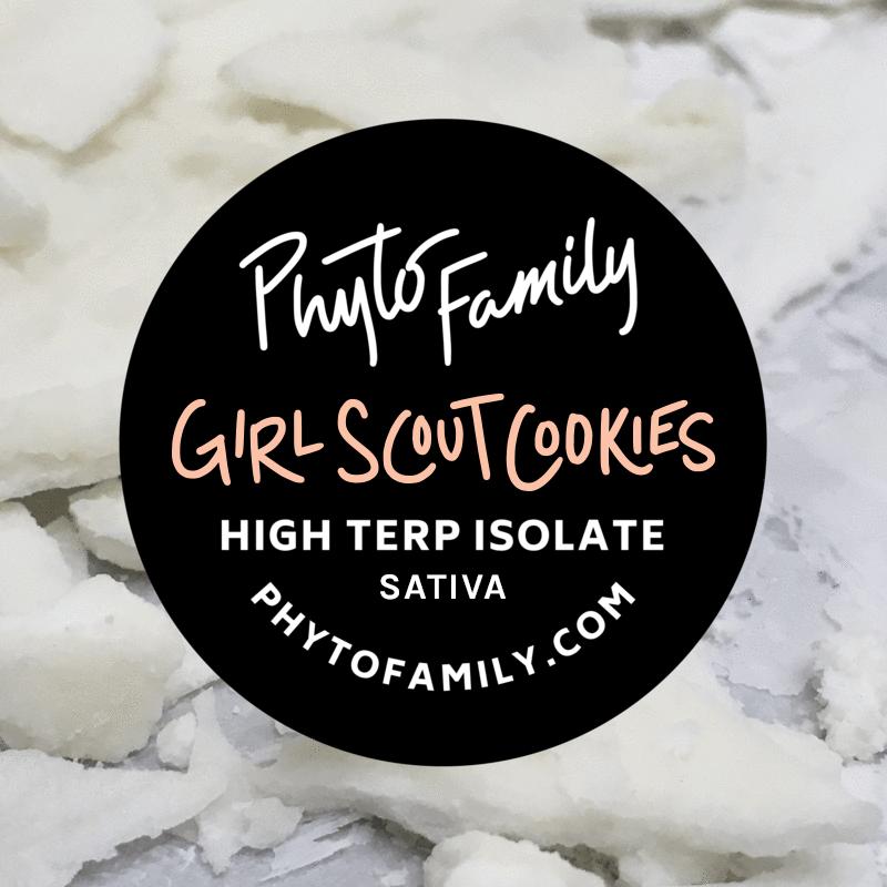 CBD Hemp Isolate Girl Scout Cookies Terpene Phyto Family