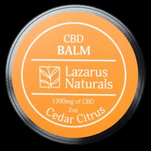 Lazarus Naturals CBD Balm Cedar Citrus