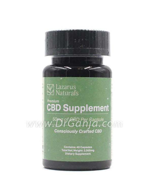 Lazarus Naturals 50 mg CBD Capsules