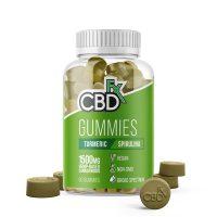 CBDfx CBD Gummy Bears with Turmeric and Spirulina 1500mg 60ct
