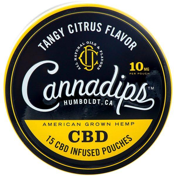 Cannadips Tangy Citrus CBD Pouches