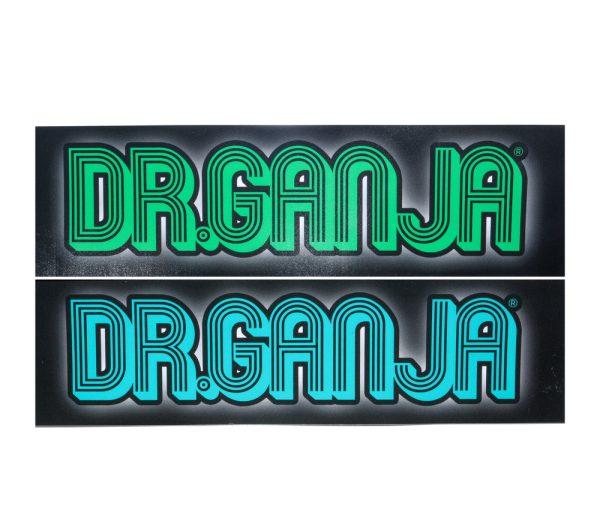 Dr.Ganja Bumper Green & Blue Sticker
