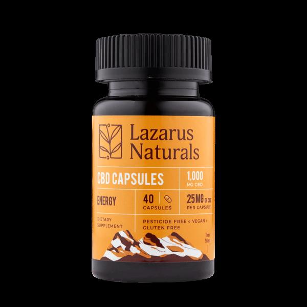 Lazarus Naturals Energy Formula 25mg CBD Capsules