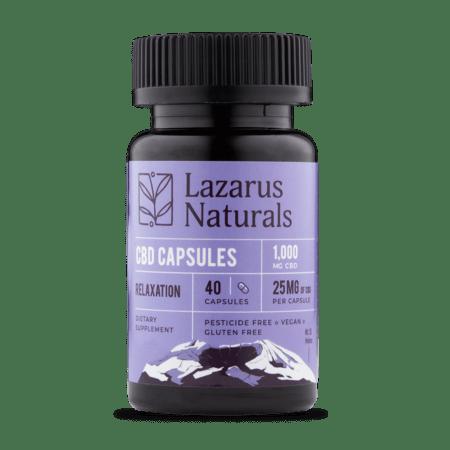 Lazarus Naturals Relaxation Formula 25mg CBD Capsules