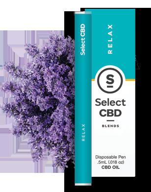 Select CBD Relax Lavender Vape Pen