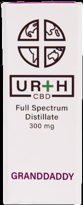 Urth CBD Full Spectrum Distillate Vape Cartridge Graddaddy Purple