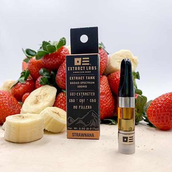 Extract Labs CBD Distillate Vape Cartridge Strawnana
