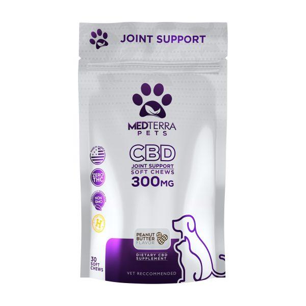 Medterra CBD Pet Joint Support Chews Peanut Butter