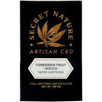 Secret Nature CBD Distillate Vape Cartridge Forbidden Fruit