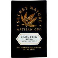 Secret Nature CBD Distillate Vape Cartridge Lemon Diesel