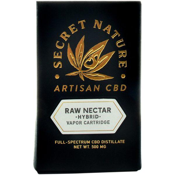 Secret Nature CBD Distillate Vape Cartridge Raw Nectar