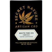 Secret Nature CBD Distillate Vape Cartridge White Fire OG