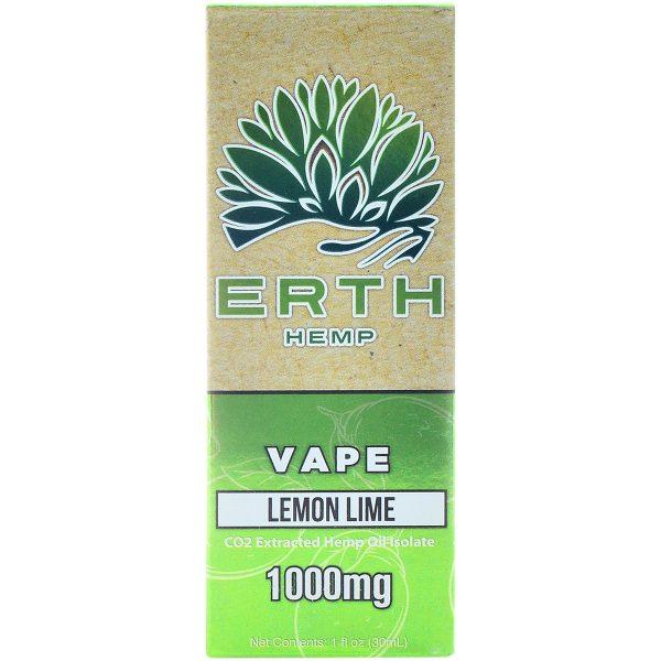 Erth Hemp CBD Vape Juice Lemon Lime 1000mg 30ml