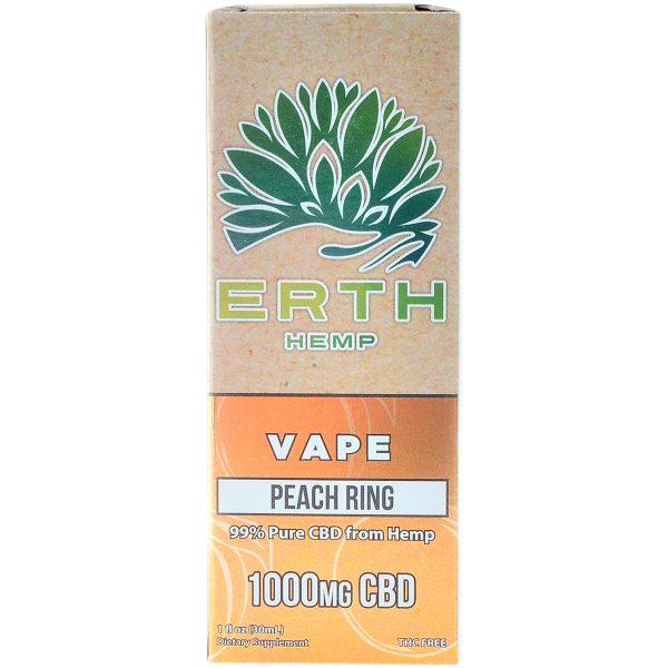 Erth Hemp CBD Vape Juice Peach Ring 1000mg 30ml