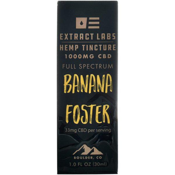 Extract Labs Banana Foster Full Spectrum CBD Tincture 1000mg 30ml