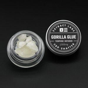 Extract Labs CBD Shatter Gorilla Glue