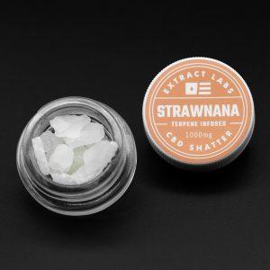 Extract Labs CBD Shatter Strawnana