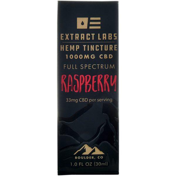 Extract Labs Raspberry Full Spectrum CBD Tincture 1000mg 30ml