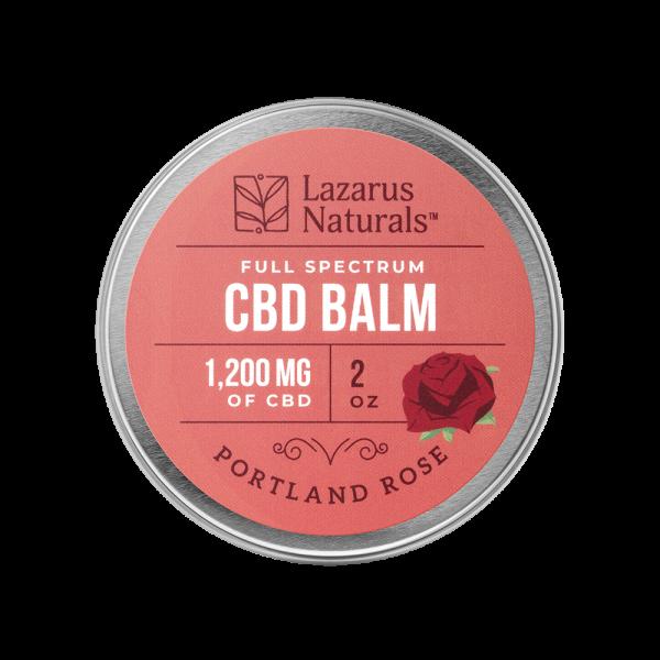 Lazarus Naturals Full Spectrum CBD Balm Portland Rose
