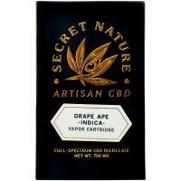 Secret Nature CBD Distillate Vape Cartridge Grape Ape