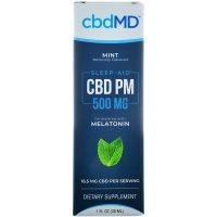 cbdMD CBD PM Sleep Oil Mint 500mg 30ml
