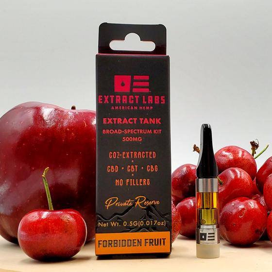 Extract Labs CBD Distillate Vape Cartridge Forbidden Fruit