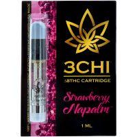 3Chi Delta 8 Vape Cartridge Strawberry Napalm 1ml