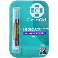 Cannaaid Delta 8 Vape Cartridge Grand Daddy Purple 1ml