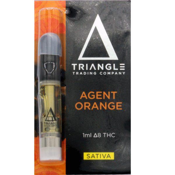 Triangle Trading Co Delta 8 Vape Cartridge Agent Orange 1ml