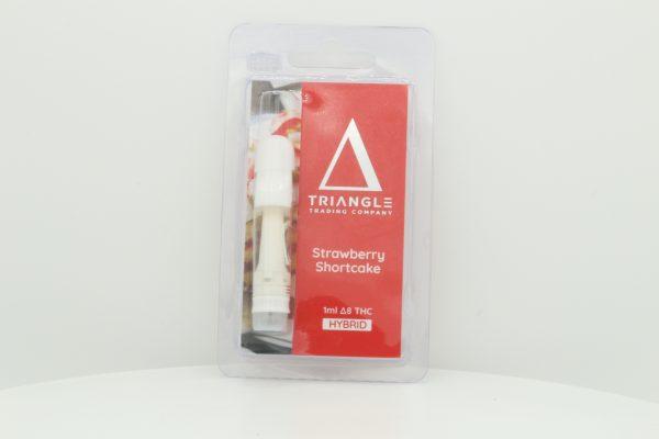 Triangle Trading Co Delta 8 Vape Cartridge Strawberry Shortcake 1ml