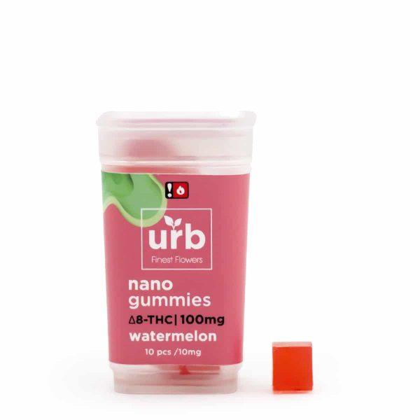 Urb Delta 8 THC Gummies Watermelon 10mg 10ct