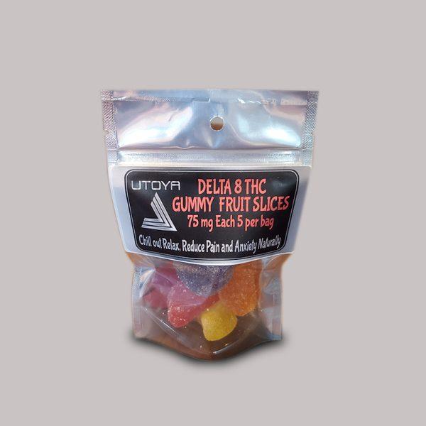 Utoya Delta 8 THC Gummy Fruit Slices 75mg 5ct