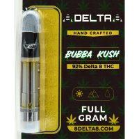 8Delta8 Vape Cartridge Bubba Kush 1ml
