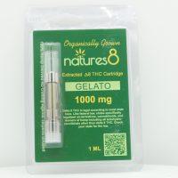 Natures 8 Delta 8 Vape Cartridge Gelato 1ml