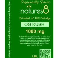 Natures 8 Delta 8 Vape Cartridge OG Kush 1ml