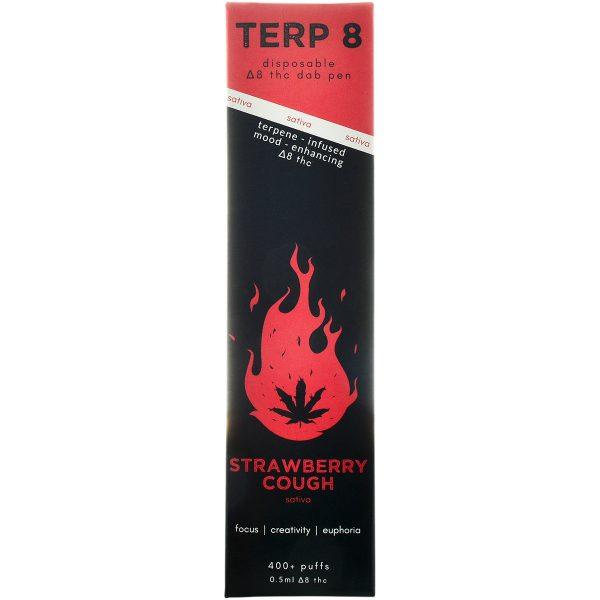 Terp 8 Delta 8 Vape Pen Strawberry Cough