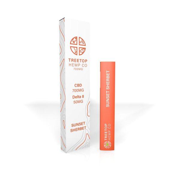 Tree Top Hemp Co CBD & Delta 8 Vape Pen Sunset Sherbet