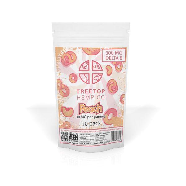 Tree Top Hemp Co Delta 8 Gummies Peach 300mg 10pk
