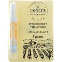 Delta Farms Delta 8 Vape Cartridge Gorilla Glue # 4 1ml