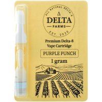 Delta Farms Delta 8 Vape Cartridge Purple Punch 1ml