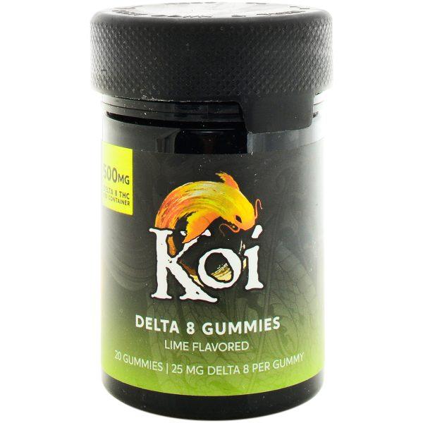 Koi CBD Delta 8 Gummies Lime 500mg 20ct