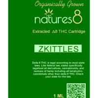 Natures 8 Delta 8 Vape Cartridge Zkittles 1ml
