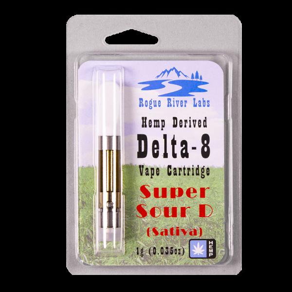 Rogue River Labs Delta 8 Vape Cartridge Super Sour Diesel 1ml