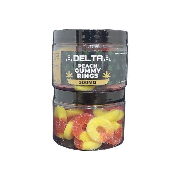 8Delta8 Gummies Peach Rings 300mg 20ct