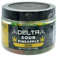 8Delta8 Gummies Sour Pineapple 300mg 20ct