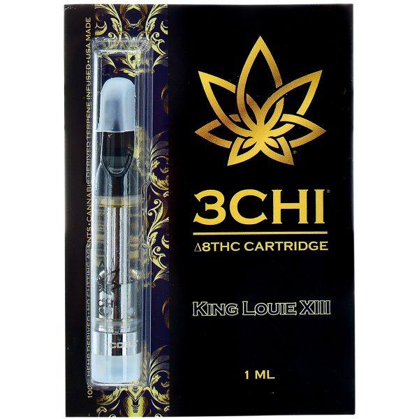 3Chi Delta 8 Vape Cartridge King Louie XIII 1ml