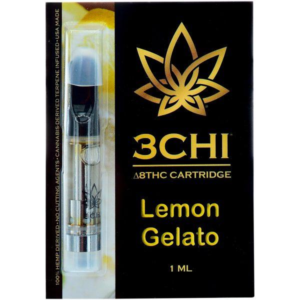 3Chi Delta 8 Vape Cartridge Lemon Gelato 1ml